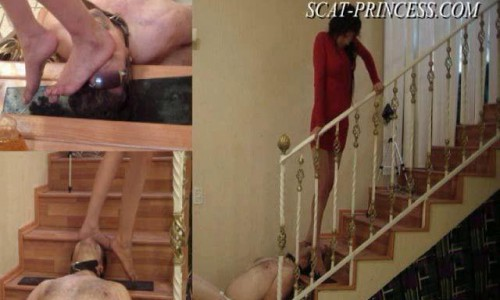 Dom-princess - Scat-princess - Toilet Man Abuse In The Kitchen Part 1 Feet Sd Dom-princess
